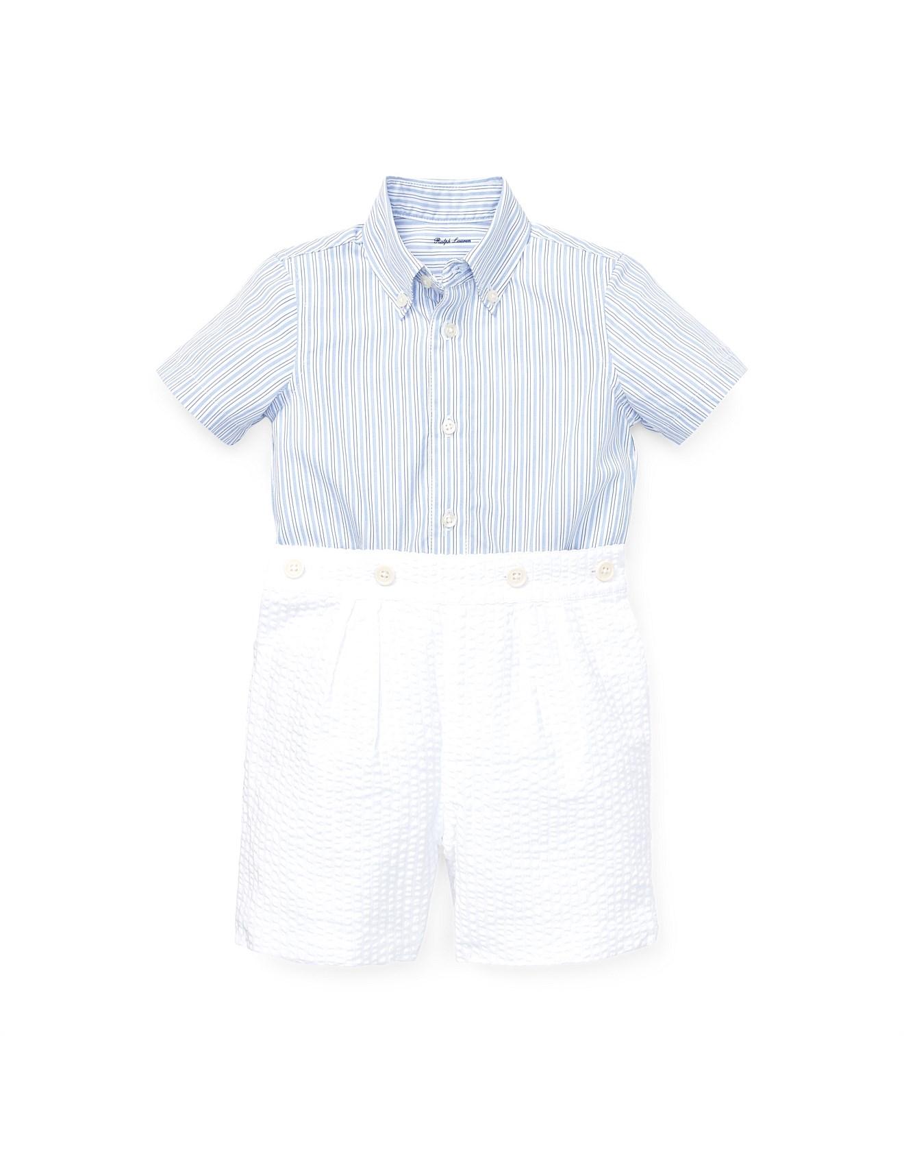 d1b1d905 Shirt & Seersucker Short Set (3-24 Months)