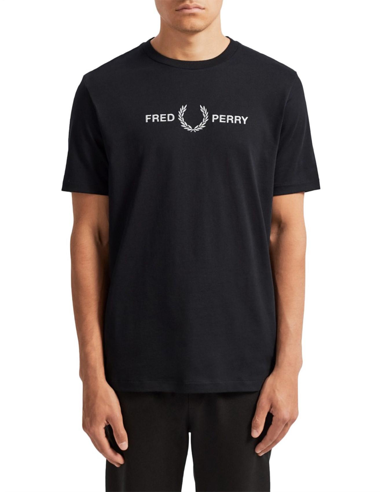 Fred Perry Graphic Black T Shirt