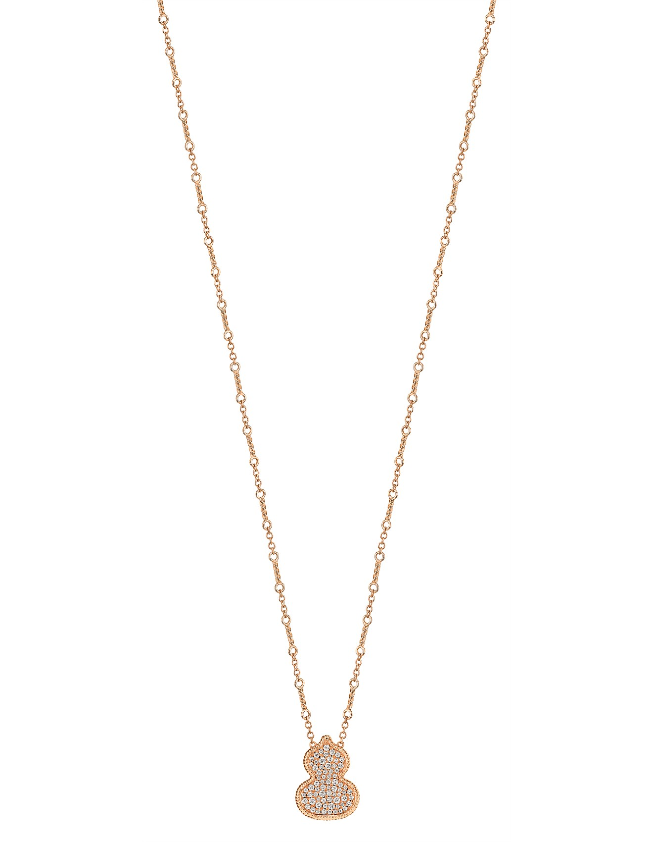 Necklace Wulu Necklace In 18k Rose Gold With Diamonds