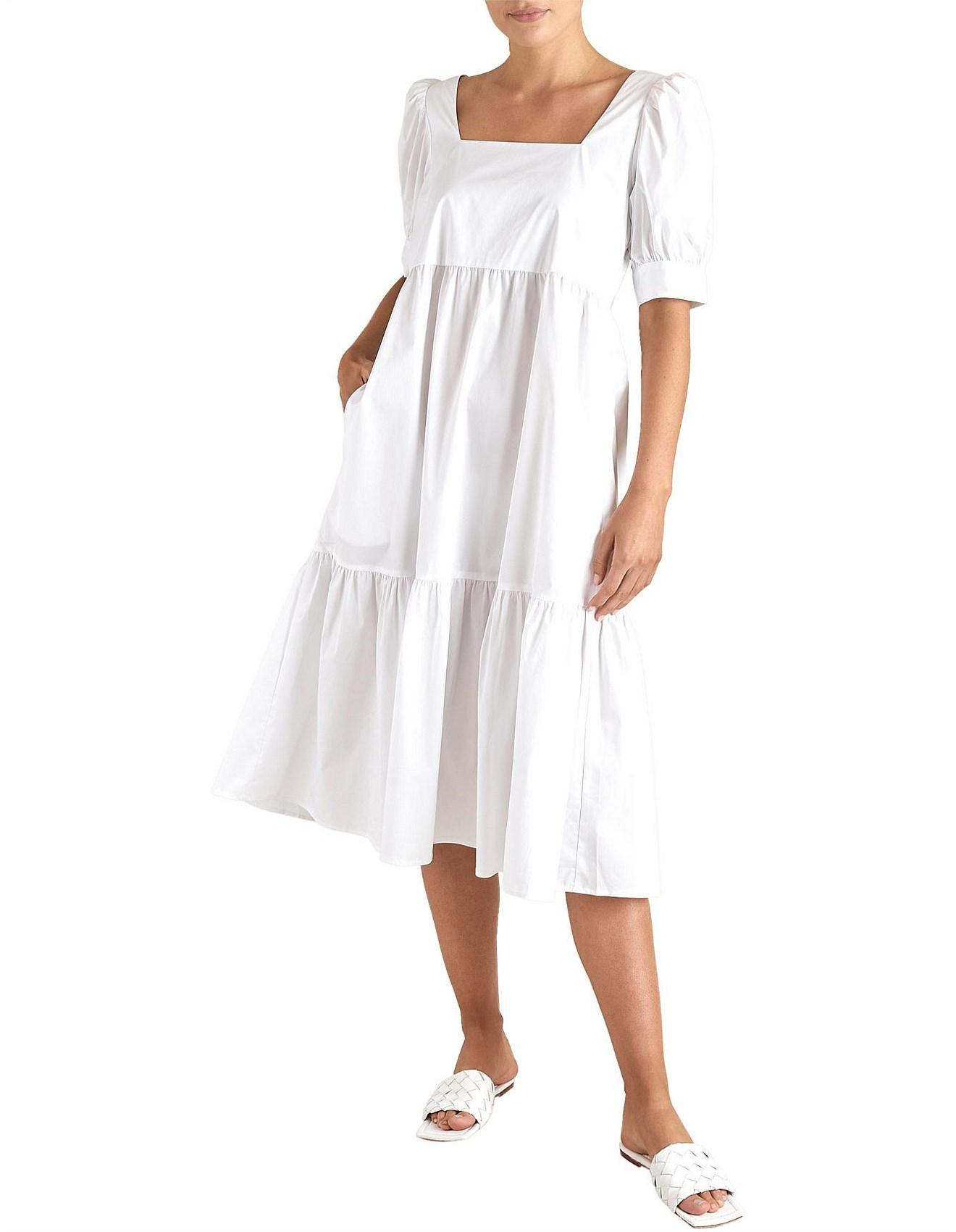Buy poplin dress midi cheap online