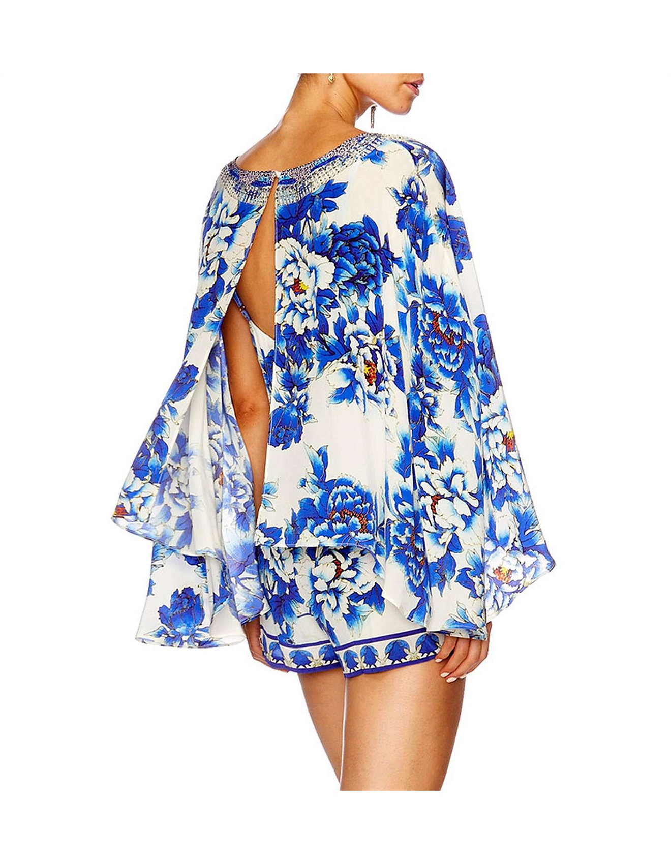 78f41a65a36 CAMILLA RING OF ROSES Cape Playsuit Special Offer. 1