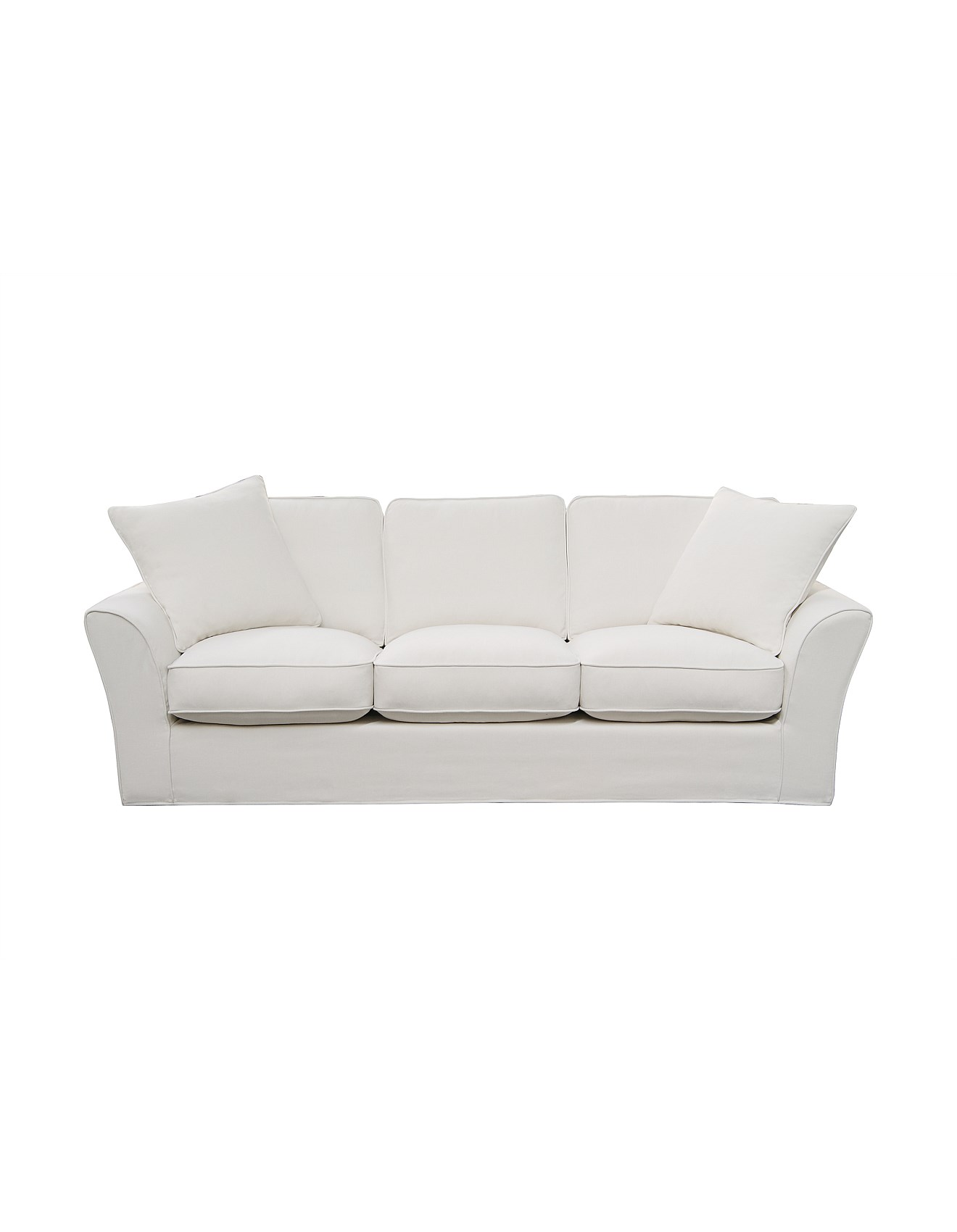 Peachy Maison 3 Seater Sofa Linara White Beige Fabric Caraccident5 Cool Chair Designs And Ideas Caraccident5Info