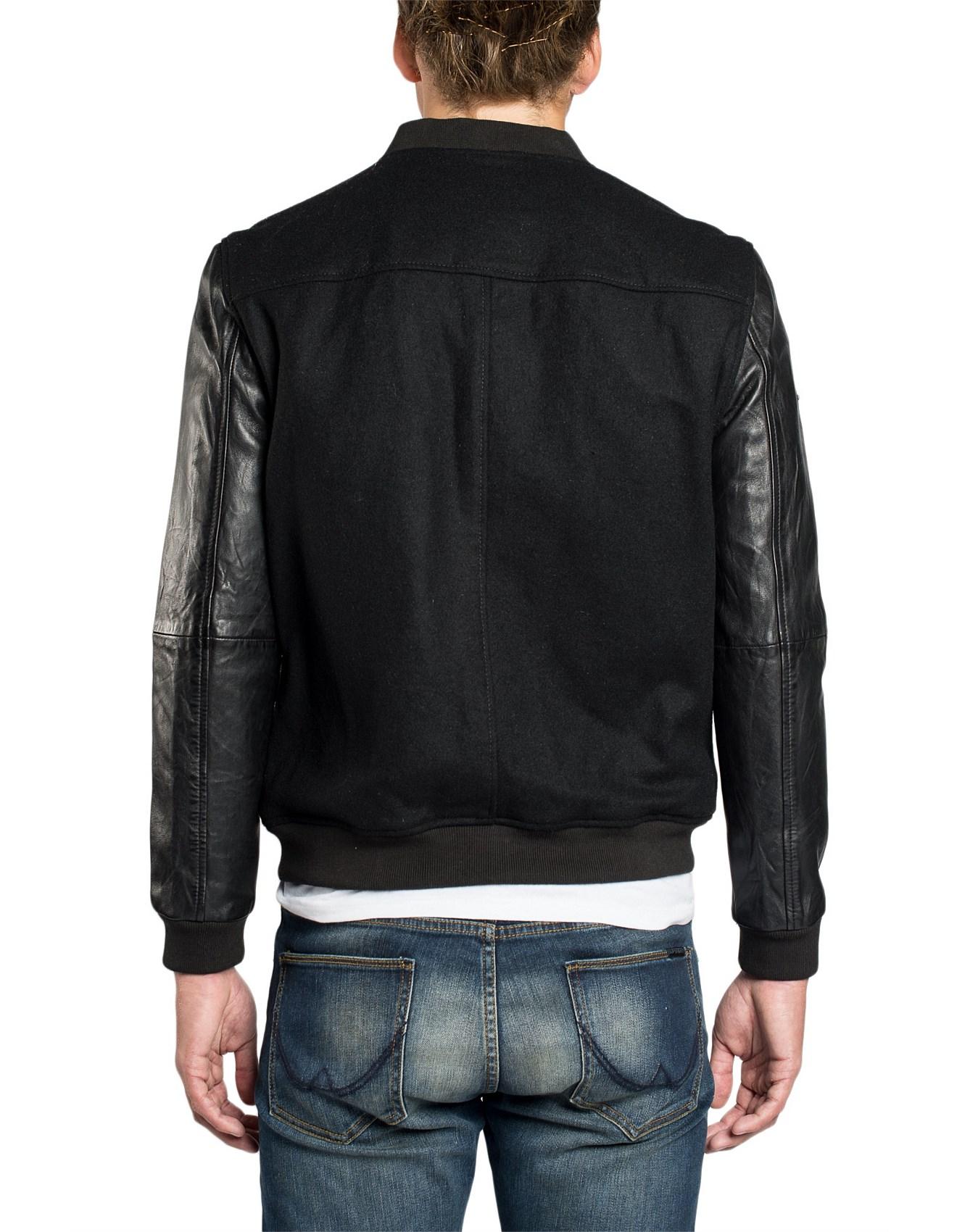 88d6c9c0f Varsity Wool Leather Bomber