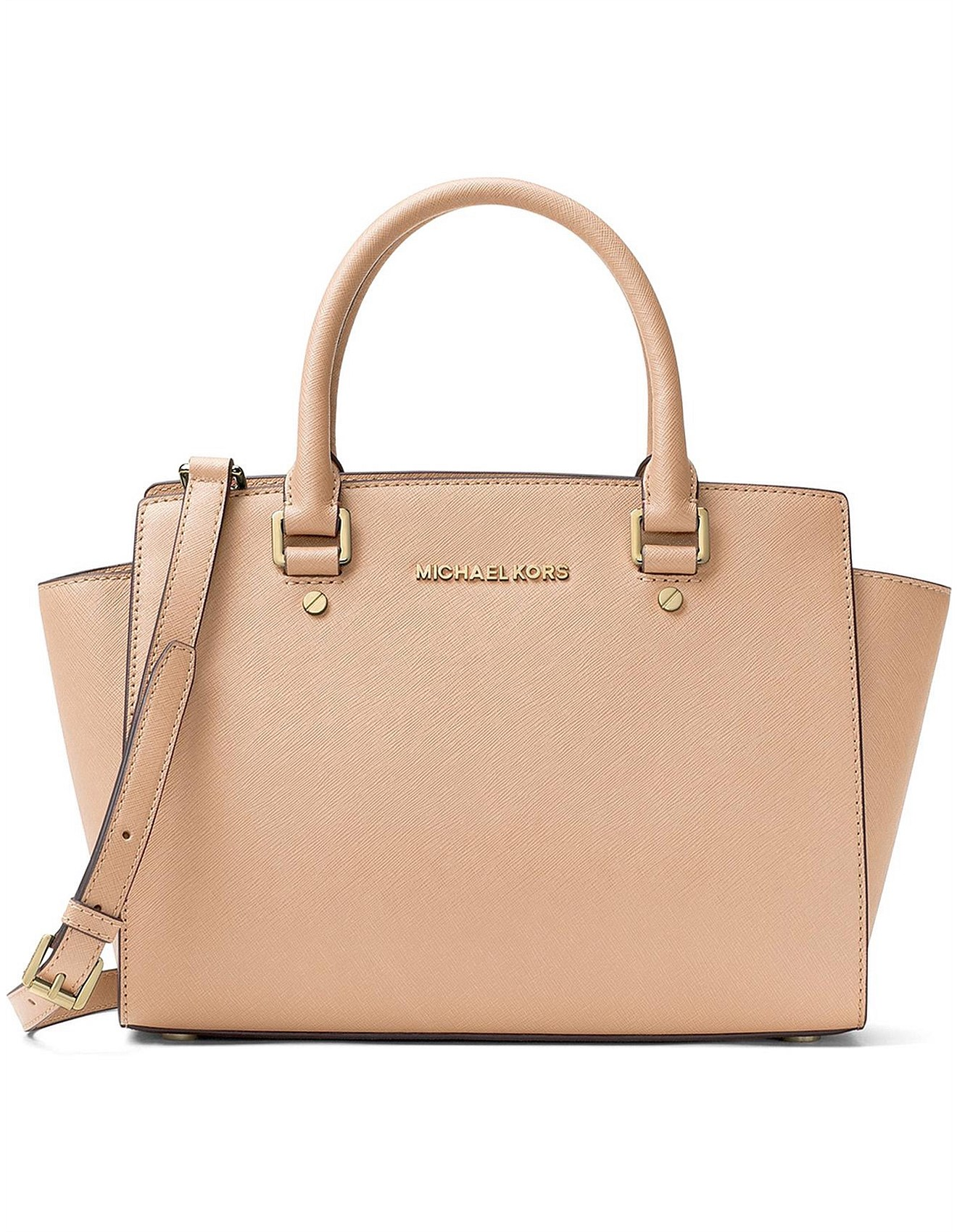 bf713e96c2f8 Selma Medium Saffiano Satchel. 1