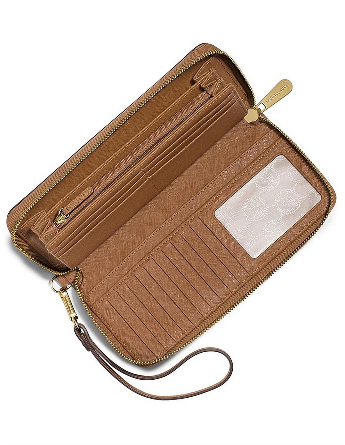 3dfbc93f0b40 Jet Set Travel Leather Continental Wristlet. 1  2  3. Zoom. Michael Kors