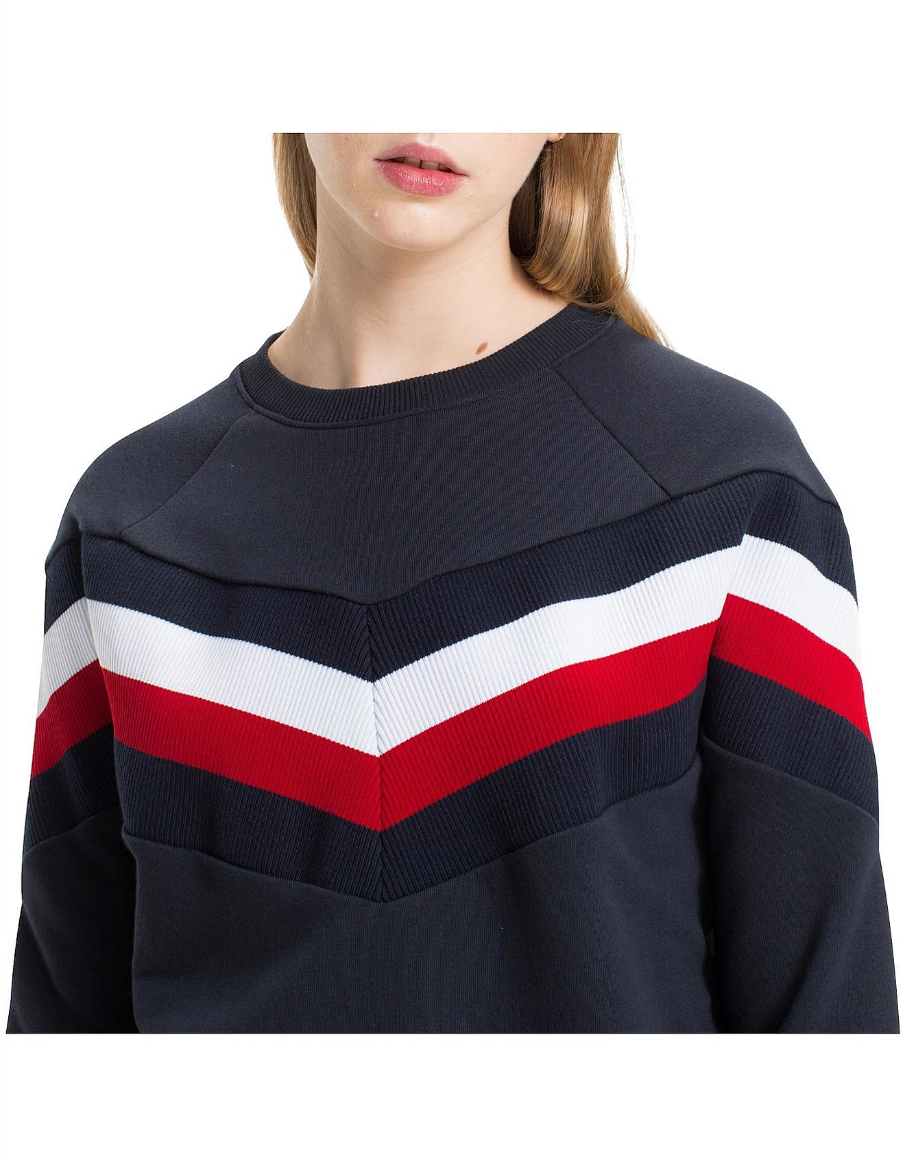0c213f8a26 FAITH CREW NECK SWEAT. 1  2  3. Zoom. Tommy Hilfiger
