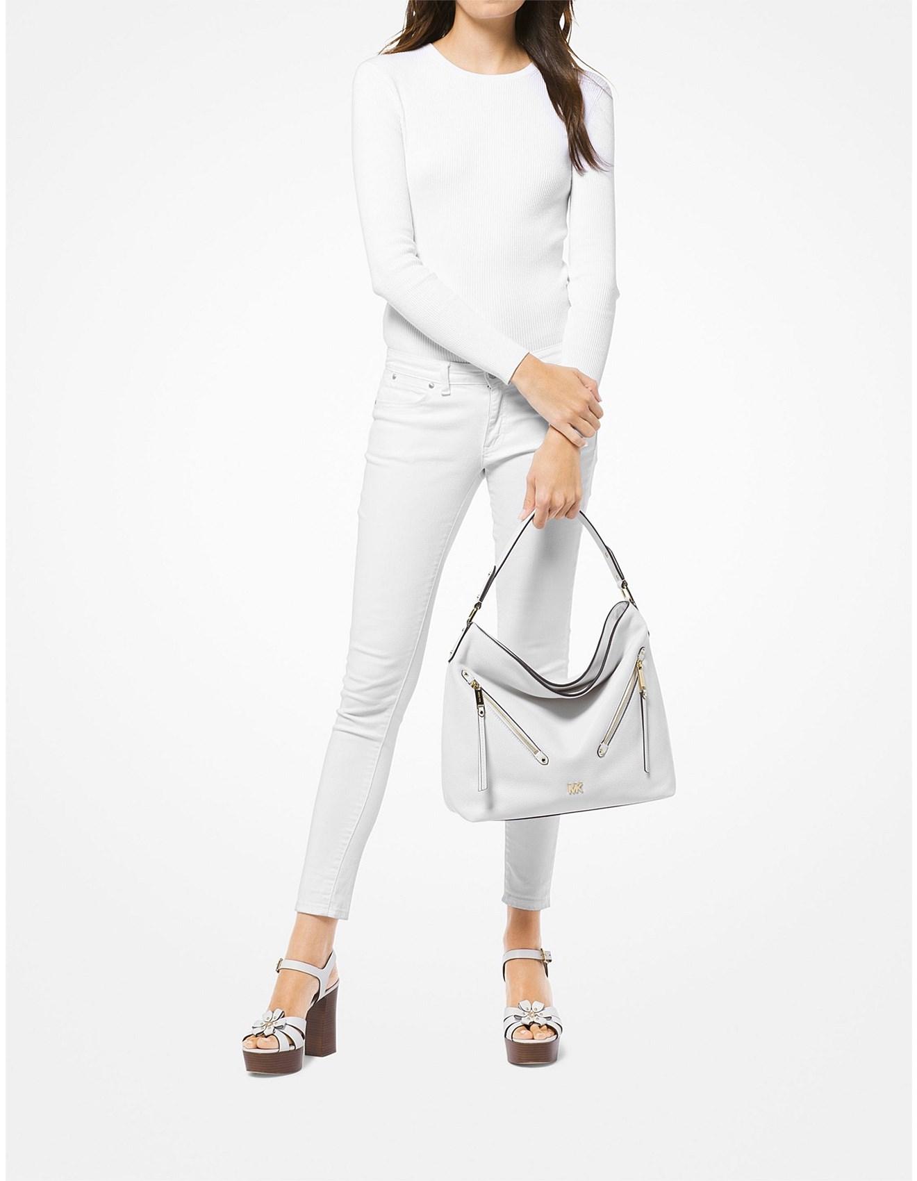 6054df3bcb37c0 Evie Large Pebbled Leather Shoulder Bag. Previous. Next. Zoom. Michael Kors