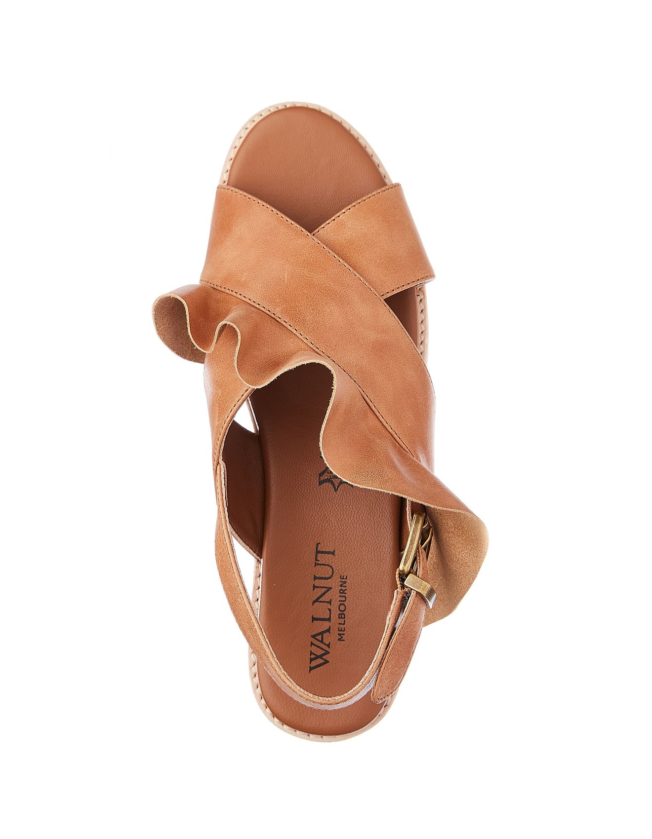 9ac7f4339b2b Eloise Leather Ruffle Sandal Special Offer On Sale. 1
