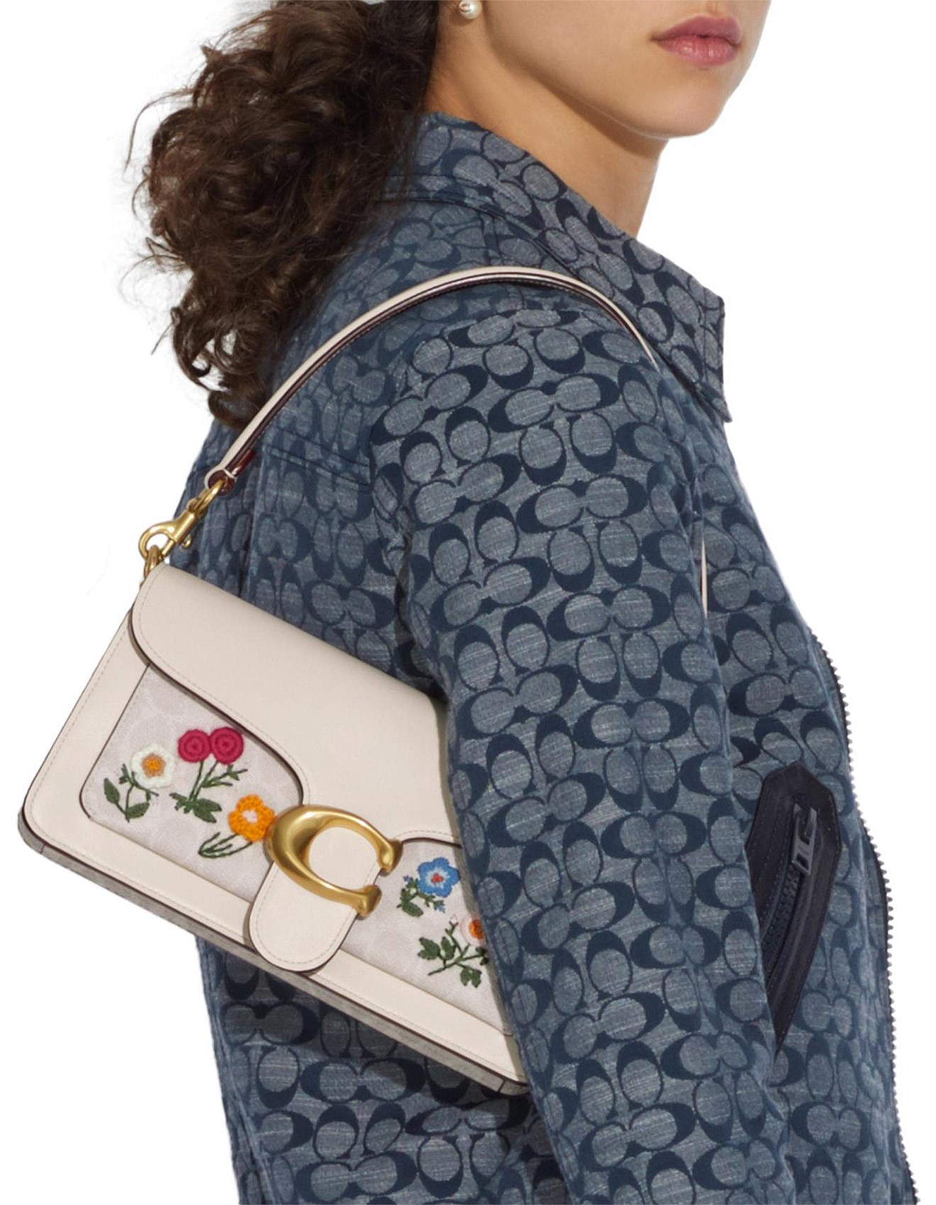 Women's Bags | Handbags, Clutches, Tote Bags Online | David Jones - TABBY 26 IN SIGNATURE CANVAS WITH FLORAL EMBROIDERY