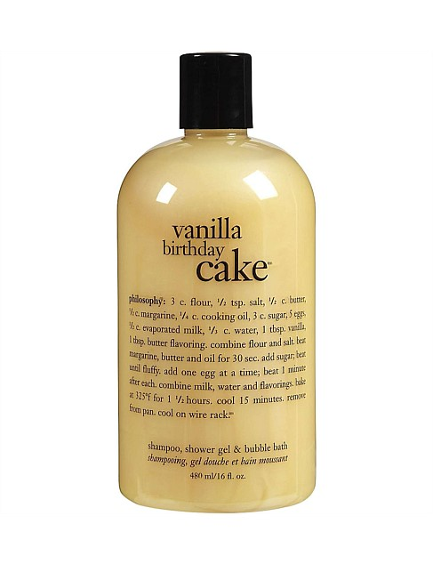 Vanilla Birthday Cake Shower Gel 480ml