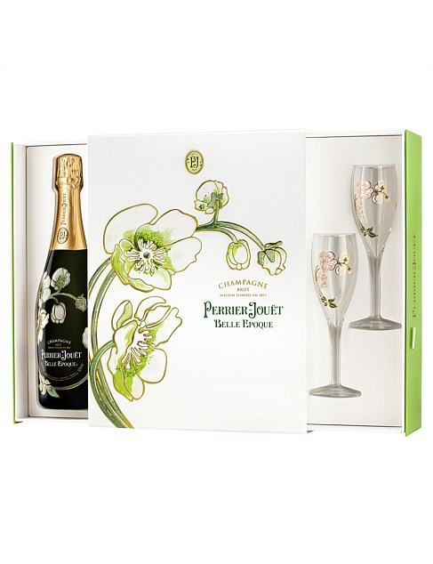 Belle Époque Brut and Two Flute Gift Set