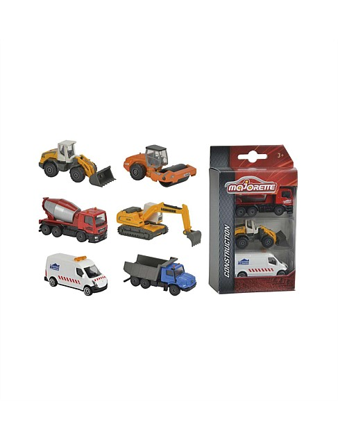 3 Pack Construction Set Assorted