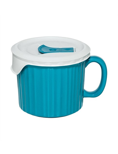 600ml Soup Mug with vented lid Turqouise