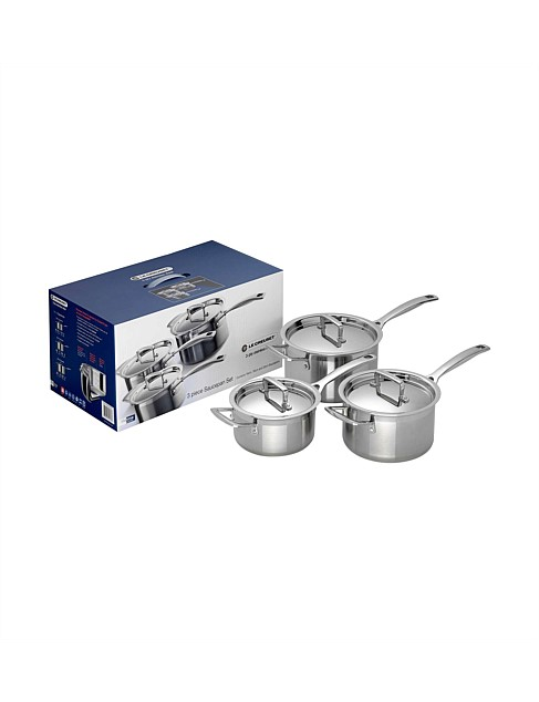3PLY Stainless Steel 3 Piece Cookware Set
