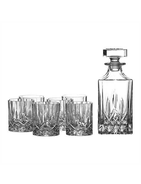 Seasons Decanter Set & 6 Tumblers