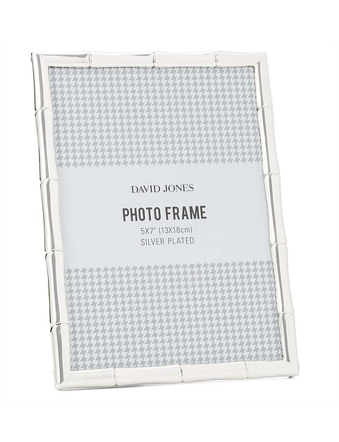 Home Furnishings - Bamboo\' Metal Photo Frame, 5x7\