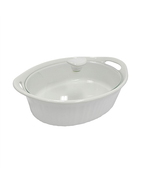 French White 1.4 litre Oval Casserole