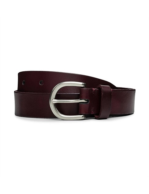 27mm Round Buckle Casual Leather Belt