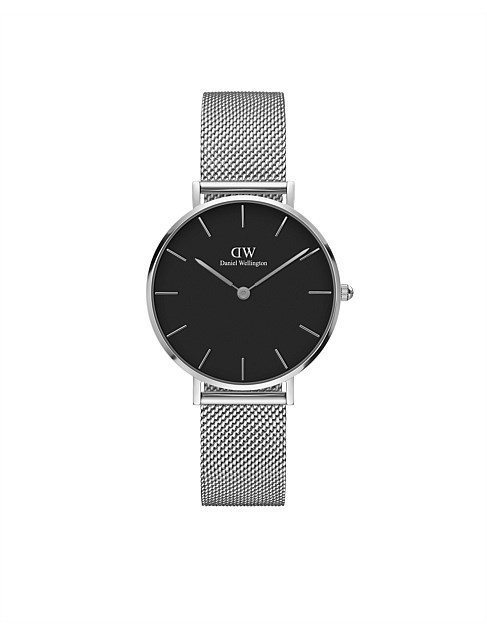 Classic Petite Sterling 32mm S Black Dial Watch