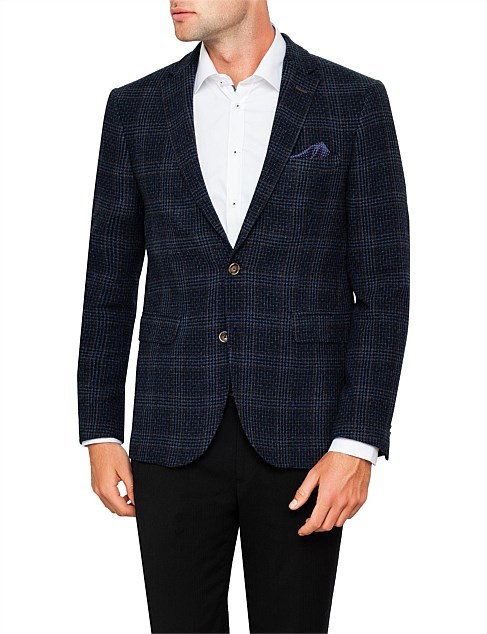TEXTURED GRAPH CHECK JACKET
