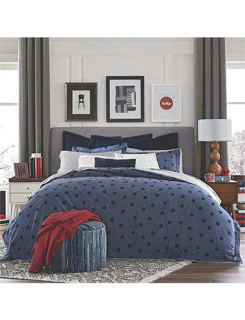 OLYMPIA DOT QUILT COVER SET DOUBLE