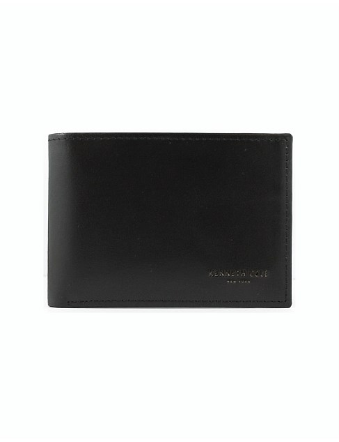 Slimline centrefold wallet with coin pouch
