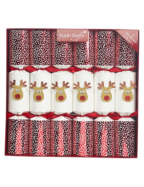 Crackers-6pc Racing Reindeer