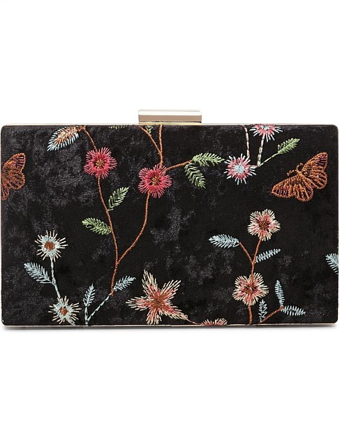 Melanie Embroidery Flower/Buttfly Bag by Gregory Ladner
