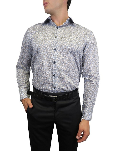 FLORAL PRINT SLIM FIT SHIRT