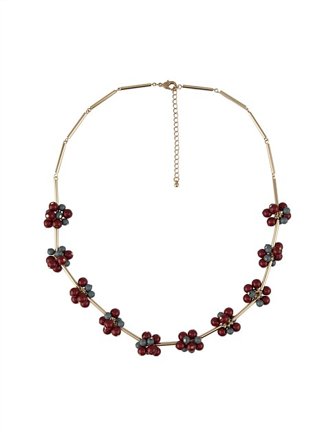 CLUSTER DROP SHORT NECKLACE
