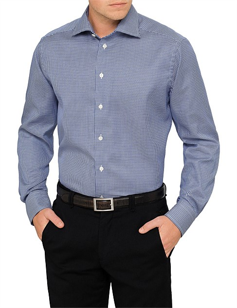 DOBBY CHECK CONTEMPORARY FIT SHIRT