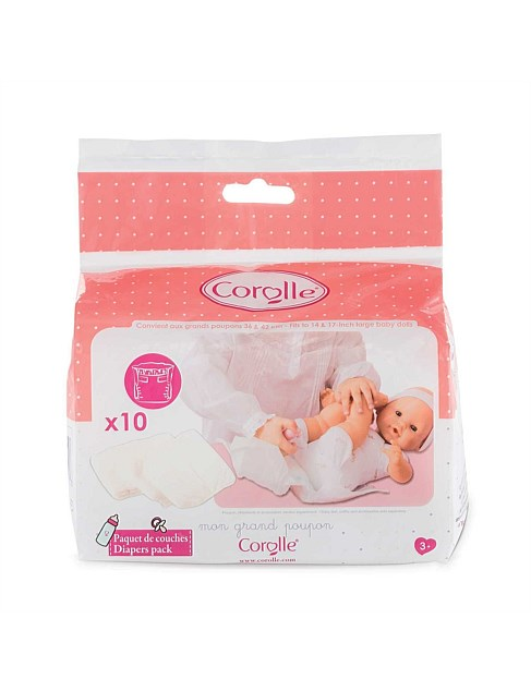Corolle Diapers Pack - 10 pk - 36cm
