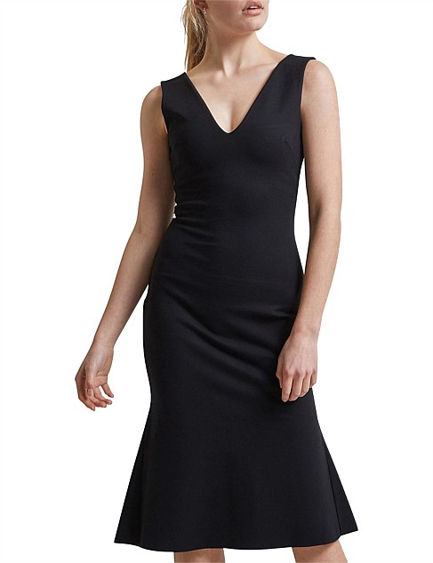 EVELYN SLIM PONTE DRESS