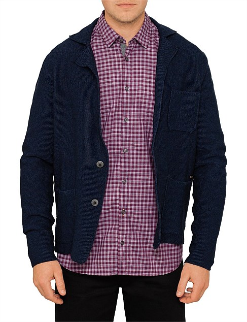 Kuyaket knitted cotton blazer jacket