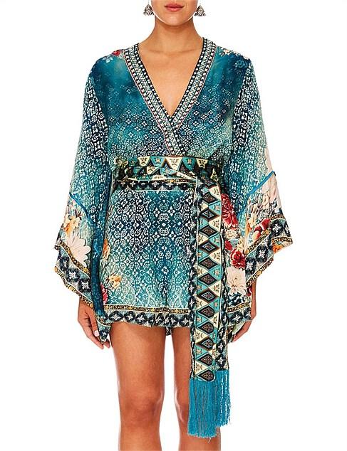 332a4e92d8d Designer - Her Heirloom Kimono Sleeve Playsuit W  Obi Belt