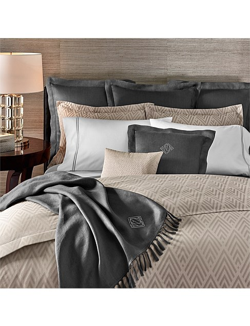 PENTHOUSE GRAY CLAYTON SUPER KING BED DUVET COVER 270X240CM