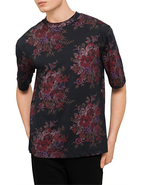 Big Tee with dark floral print