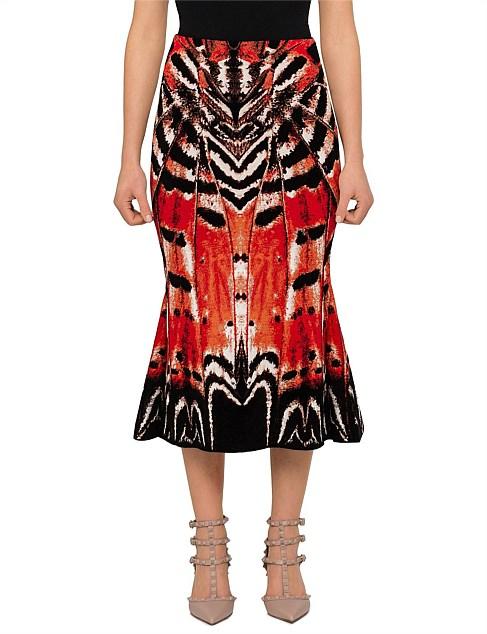 371963ec5beb Golden Week Edit - Painted Lady Butterfly Knee Skirt