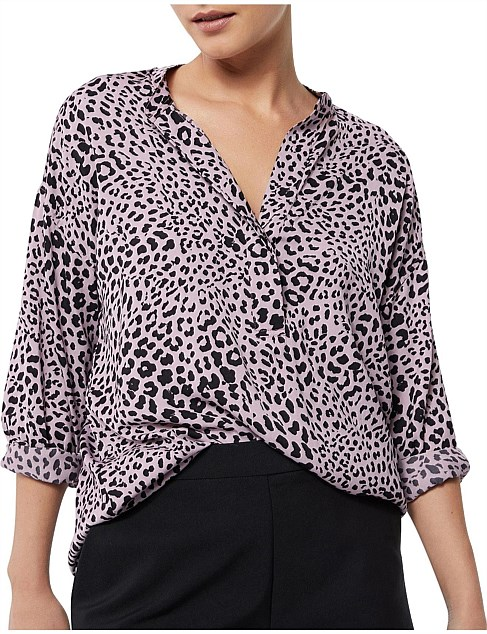 Animal Drop Shoulder Top