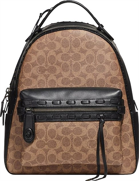 COATED CANVAS SIGNATURE WITH WHIPSTITCH CAMPUS BACKPACK