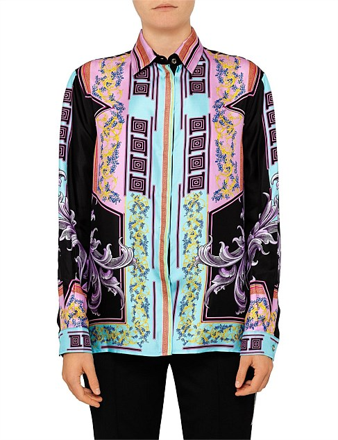 Long Sleeve Silk Button Up Shirt