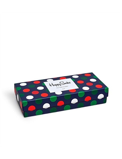 4PK HOLIDAY BIG DOT GIFT BOX