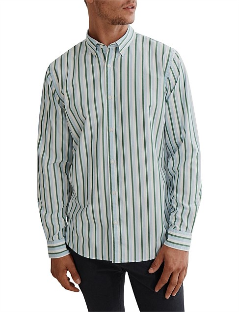 Long Sleeve Regular Vertical Stripe Shirt