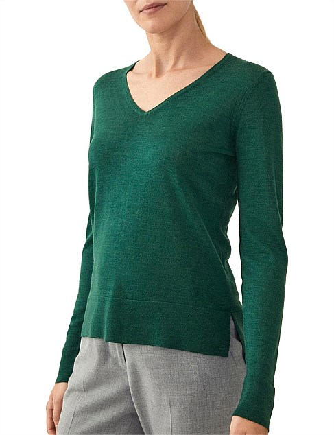 Merino Wool V-Neck Knit