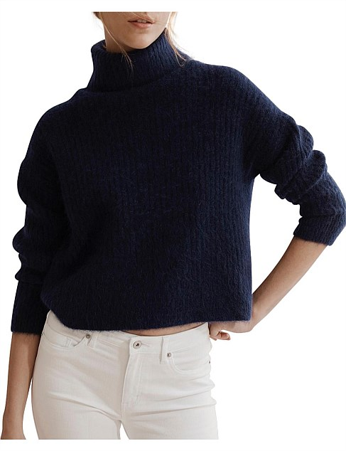 Fluffy Roll Neck Sweater