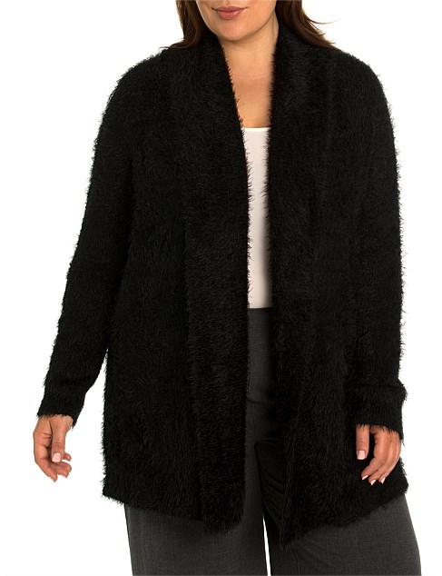 Long Sleeve Two-Way Fluffy Cardi