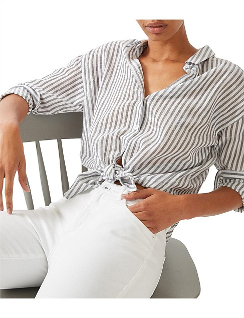 Relaxed Stripe Shirt by Jag