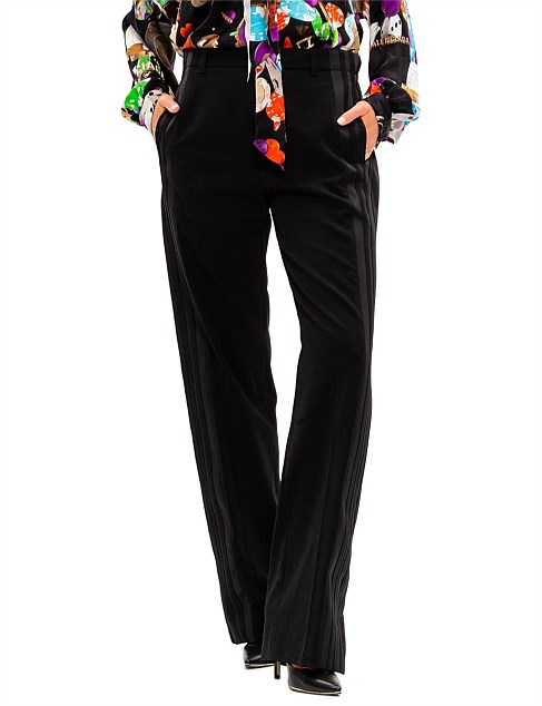 Wide Leg Jogger Pant With Satin Side Stripe