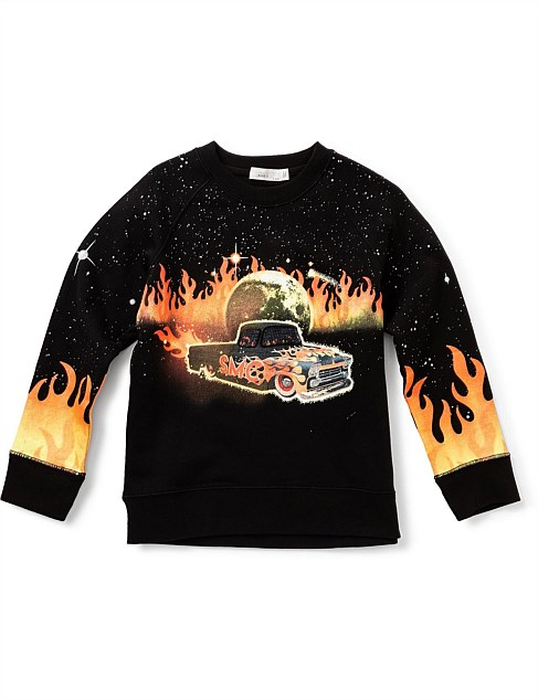 Arlie Car, Flames & Eagle Sweater (2-8Years)
