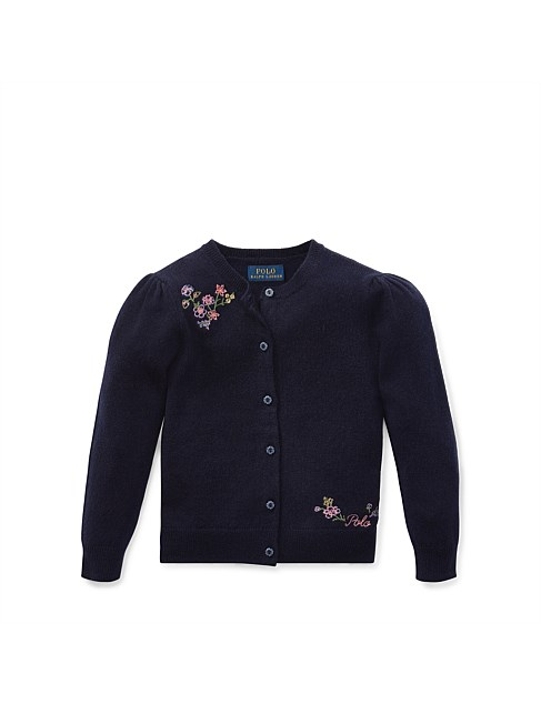 Floral-Embroidered Cardigan(2-7 Years)